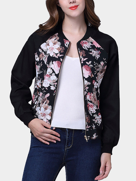 Floral Print Pattern Causal Jacket
