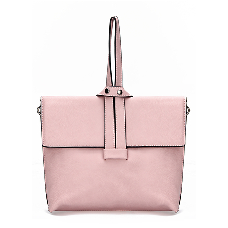 Pink Leather Knot Detail Shoulder Bag