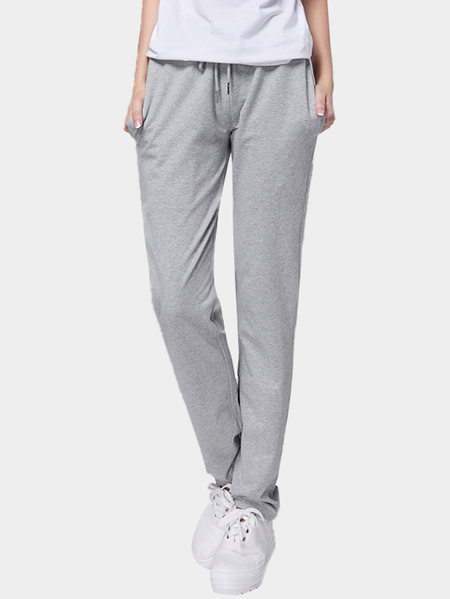 Grey Side Pockets Harem Trousers