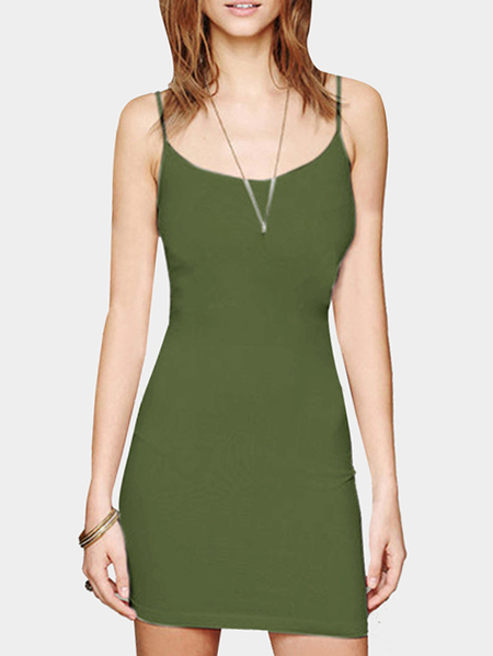 Dark Green Cami Bodycon Mini Dress