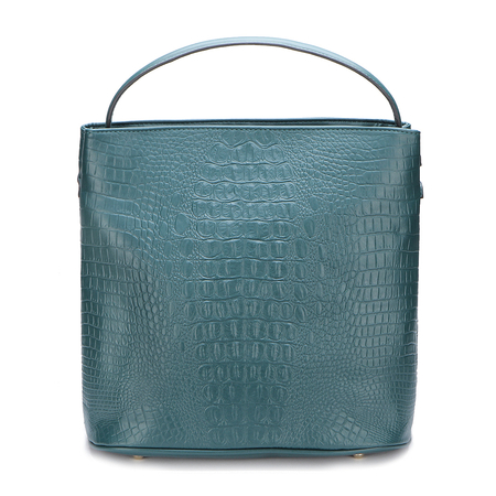 Green Lizard Printing Shoulder Bags
