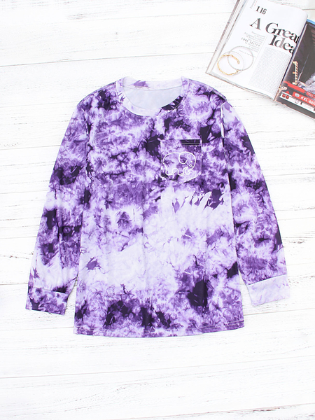 Purple Elephant Printing with Pocket T-shirt