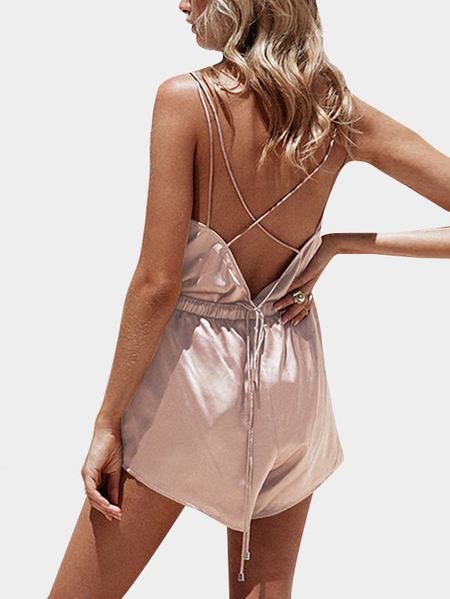 Lace-up Back Cami & Elastic waistband Short Co-ord