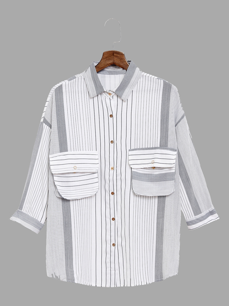 Stripe Pattern Shirt In Sweet design