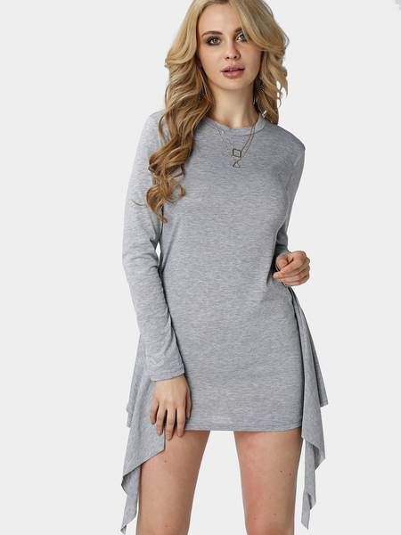Knot Front Long Sleeve Bodycon Dress  05f2a6a3c