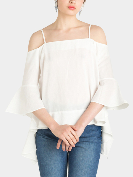 See Trough Cold Shoulder Top