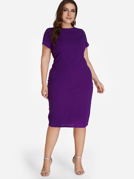 Purple Tank Knit Bodycon Dress