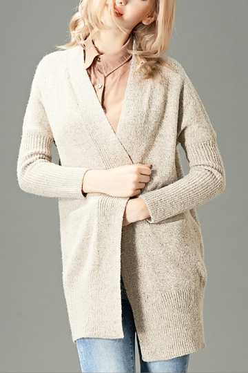 Pocket Detail Edge To Edge Cardigan