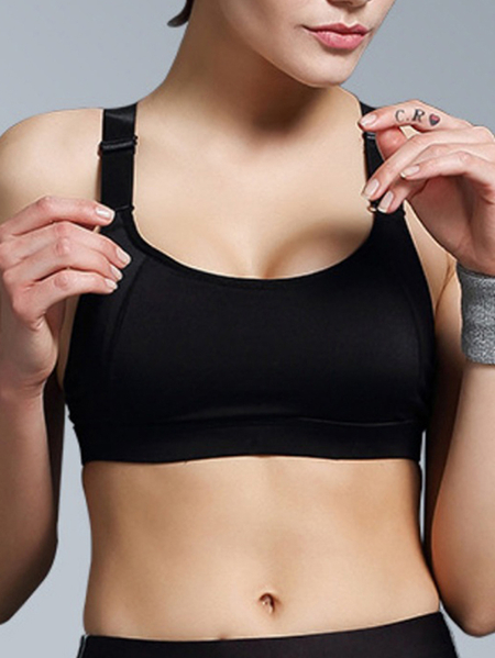 High Impact Anti-shock Simple Sports Bra