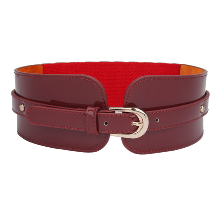 Stretch Belt with Stud Details in Red