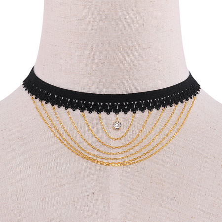 Elastic Pendant Choker Necklace