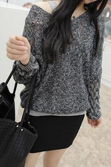 Hollow Out Textured Sweater