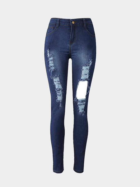 Fashion Rips Shredded Skinny Jeans