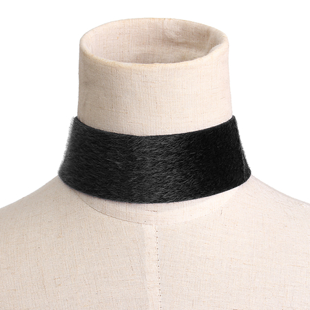 Black Minimalism Suede Choker Necklace