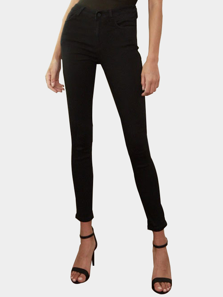 Black High Waist Bodycon Pencil Trousers