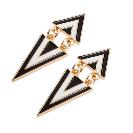 Vintage Triangle Swing Earings