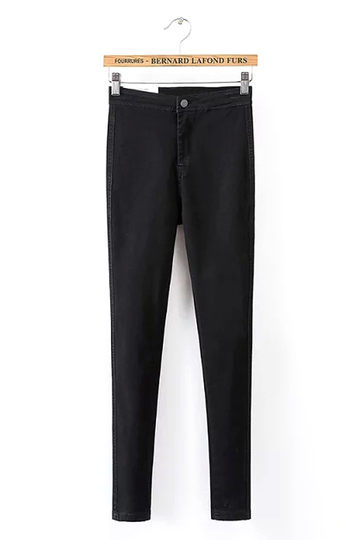 Skinny High-rise Waist Jeans in Black