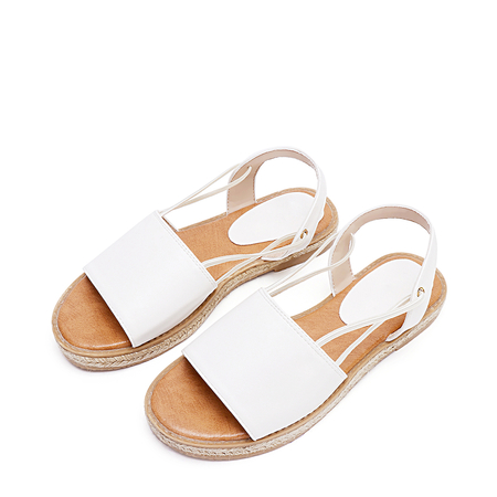 White Straw Fisherman Sandals
