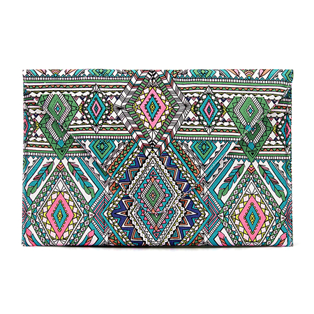 Geo Tribo Imprimir Envelope Clutch Bag com corrente Strap