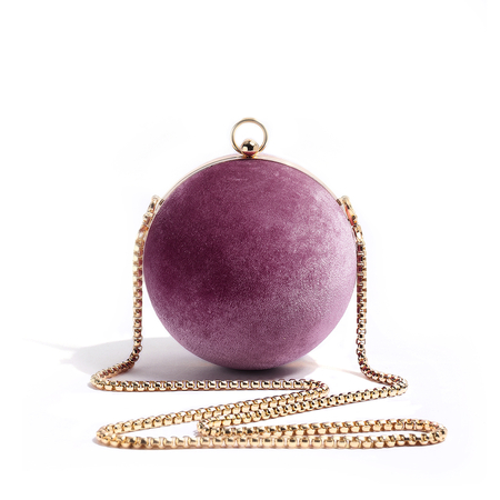 Fashion Spherical Chain Crossbody Bag in Pink
