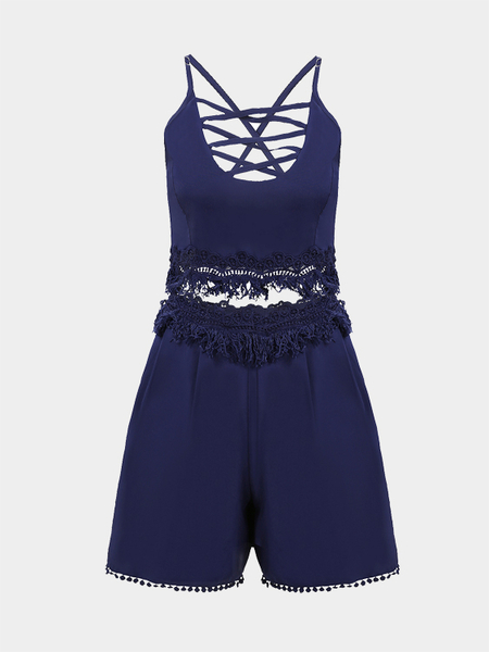 Sex Lace Stitching Tassels Fashion Co-ord