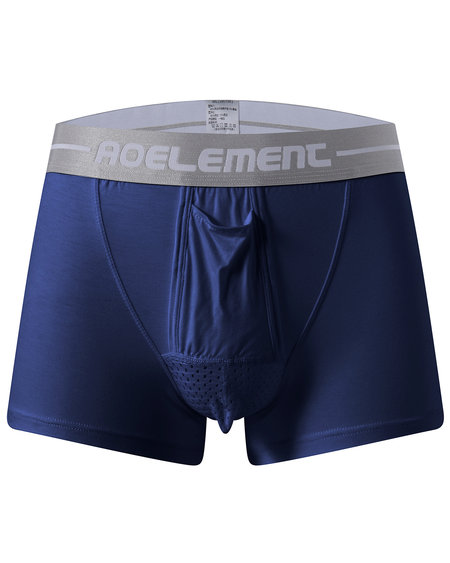 Royal Blue Modal U Convex Separation Physiological Men's Boxers