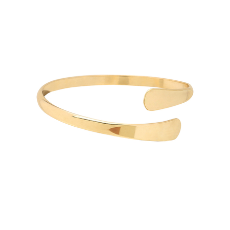 Gold Plated Smooth Design Open Bangle