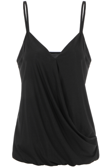 V-neck Vest with Wrap Front