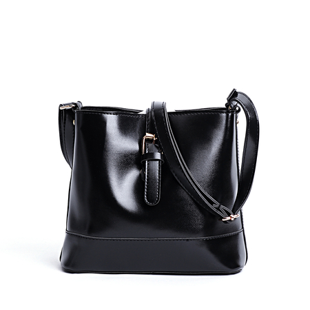 Black Plain Design Crossbody Bag