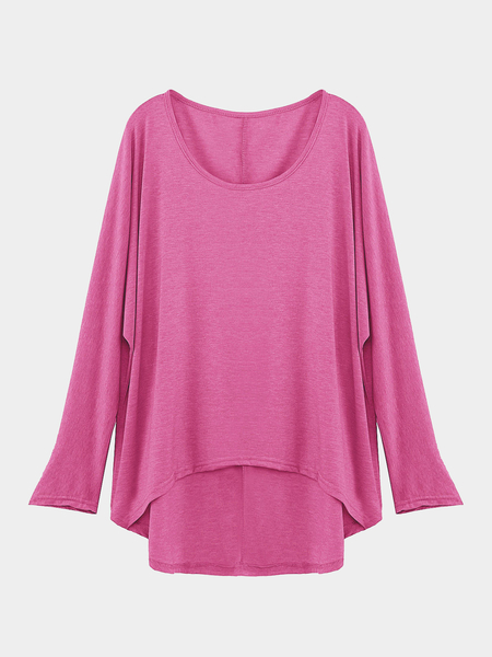 Blusa casual mujer suelta rosa