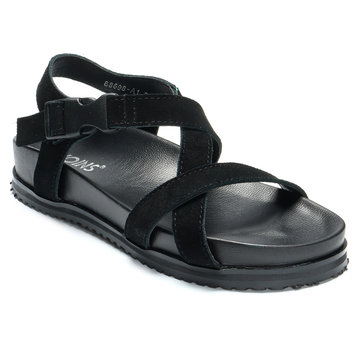 Black Platfrom Design Dull Polish Sandals