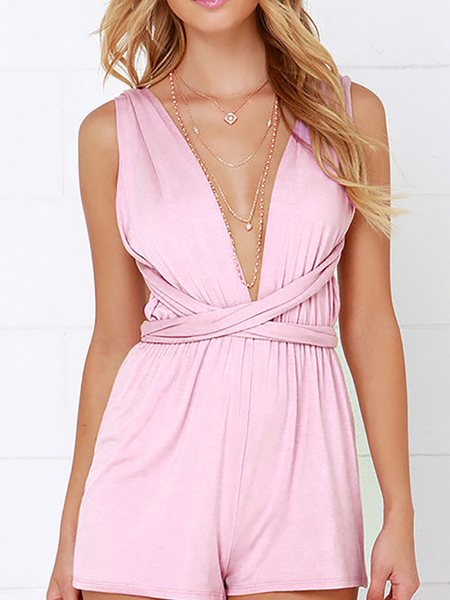 Pink Open Back Convertible Playsuit