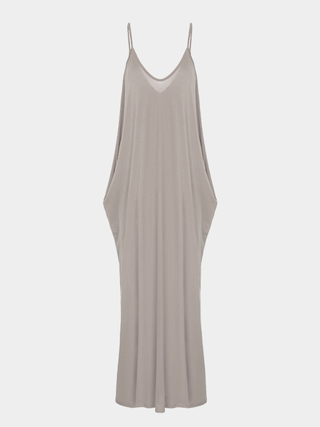 Loose Sexy Backless Sleeveless Straps Maxi Dress