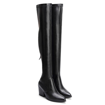 Black Over The Knee Heeled Boots