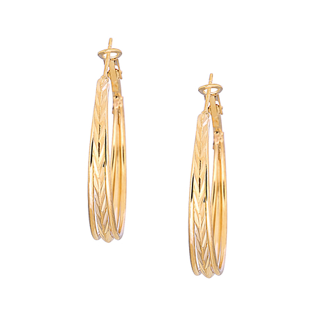 Fashion Gold Plated C Letter Earring Set Jewelry