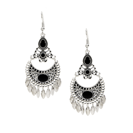 Fashion Charmed Metal Water Drop Hook Earrings