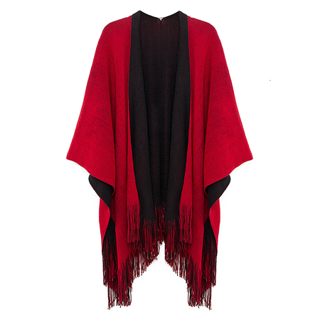 Two Side Fringed Cape