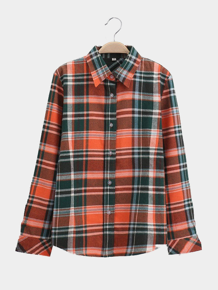 Fashion Checked Pattern Shirt