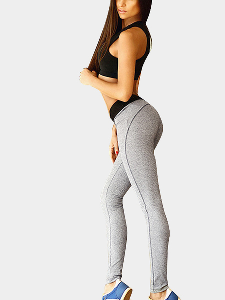 Sexy Bodycon Black and Grey Bralette & Leggings Yoga Set