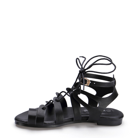 Ankle Strap Lace Up Gladiator Sandals