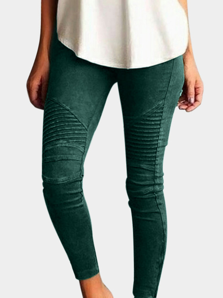 Green Elasticity Bodycon High-waisted Pants