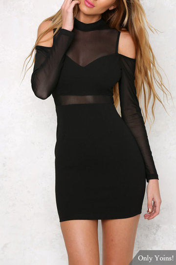 See-through maniche lunghe Vestitino con cut-out dettagli