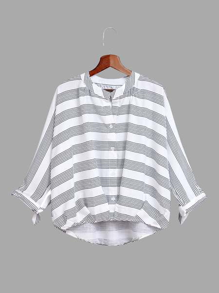 Black Stripe Pattern Shirt In Sweet design