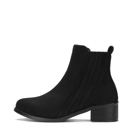Black Suede Fashion Ankle Boots