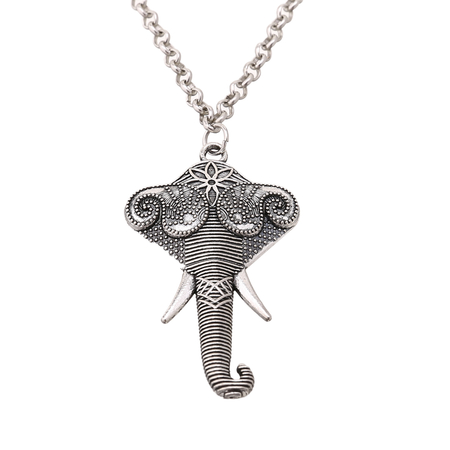 Elephant Pendant Collarbone Chain Necklace