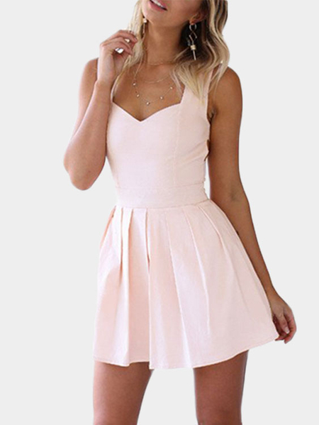 Heart Cut Out Mini Dress in Pink