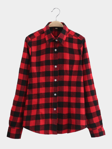 Checked Shirt In Black And Red
