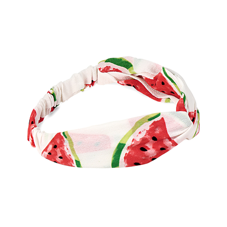 Fruit Print Chiffon Knotted Stretch Headband