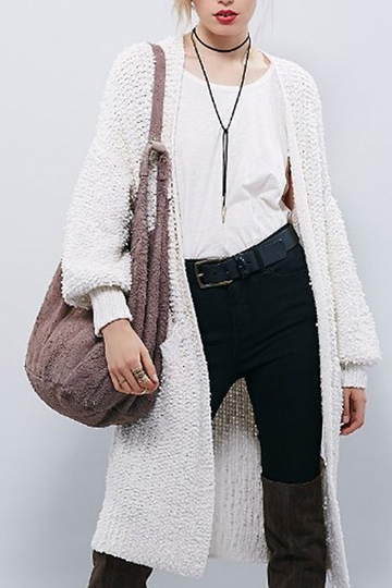 Long Cardigan with Front Pockets