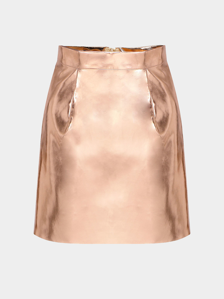 Gold Punk Mini Skirt